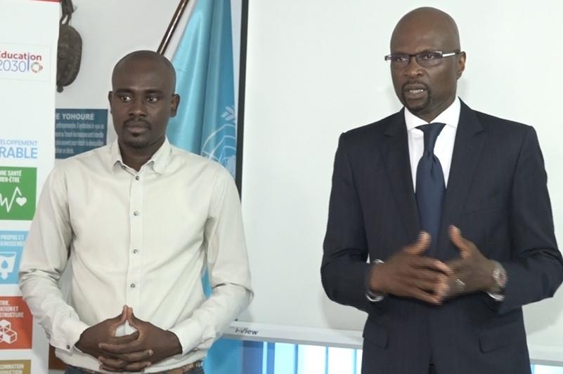 M.YDO YAO, Représentant de l'UNESCO en Côte d'Ivoire s'adressant aux jeunes leaders