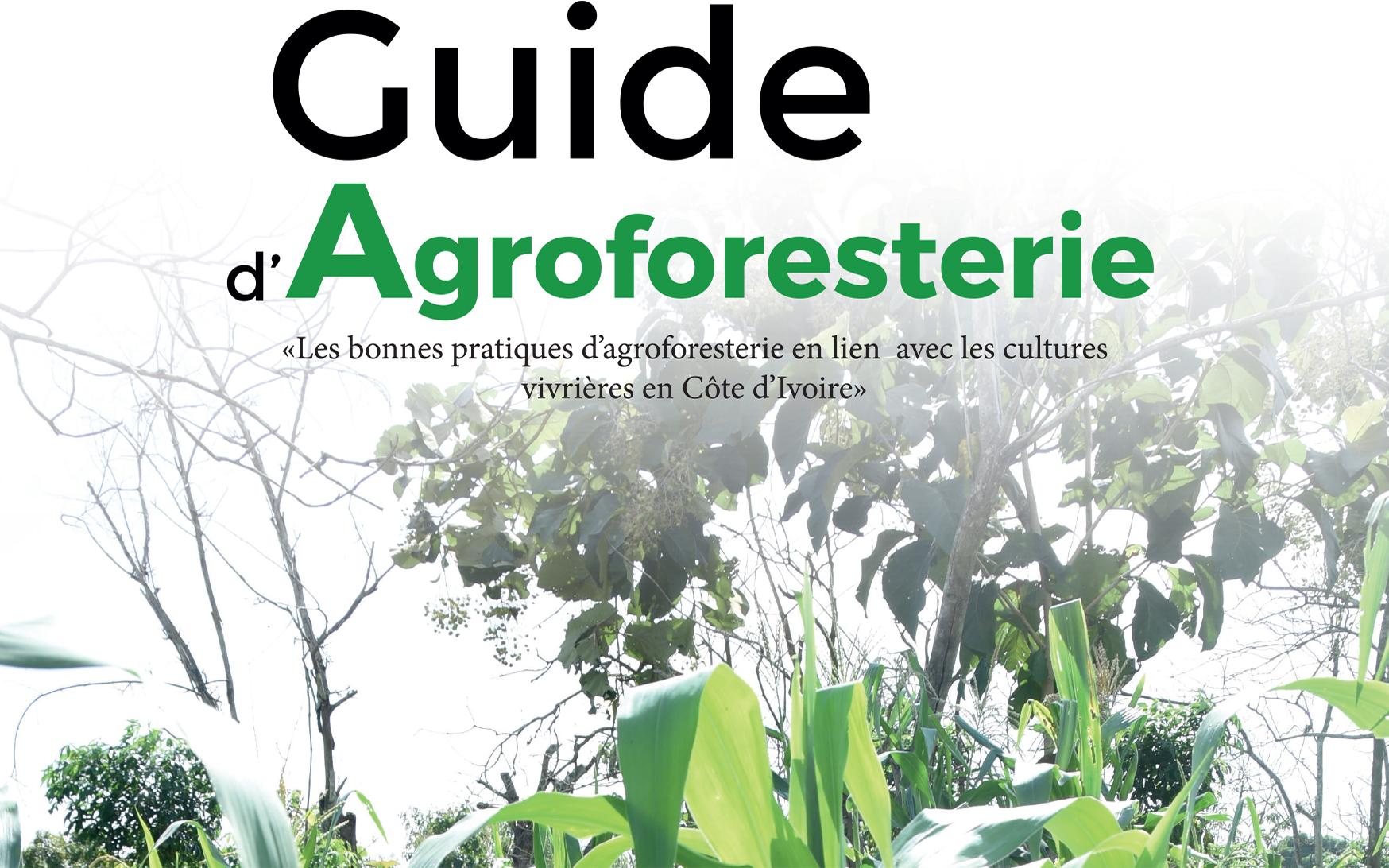 LUTTE CONTRE LA DÉFORESTATION: Un guide pratique d'agro-foresterie en lien avec les cultures vivrières.