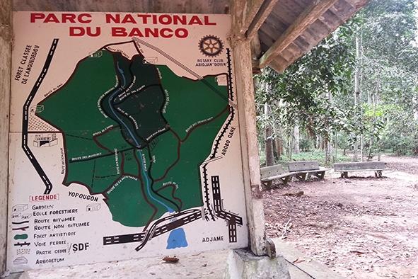 Carte du Parc du Banco - Photo (ONG AMISTAD)